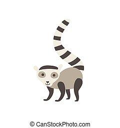 Lemur Stylized Childish Drawing