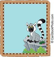 Lemur theme parchment 1