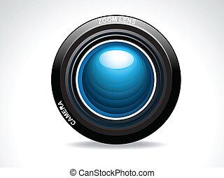 lencse, elvont, fényképezőgép, sima