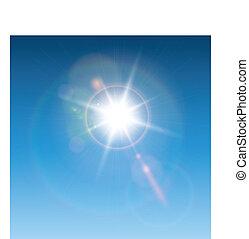 lencse, nap kiszélesedés