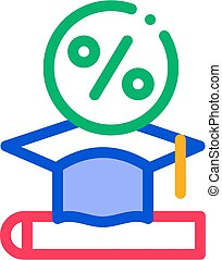 Lend Money To Pay For Tuition Icon Vector Outline Illustration