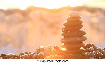 lenget, megszakadás, a, piramis, alapján, a, hegyikristály