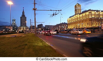 Leningradsky railway station - Historic building of the...