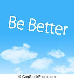 lenni, jobb, felhő, ikon, noha, tervezés, képben látható, kék ég, háttér