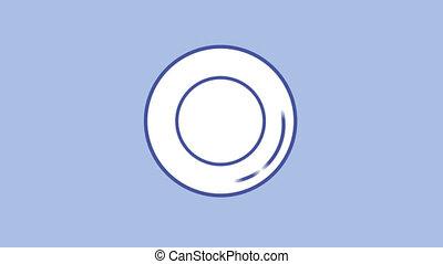 Lens aperture line icon on the Alpha Channel - Lens aperture...