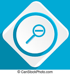 lens blue flat design modern icon for web and mobile app