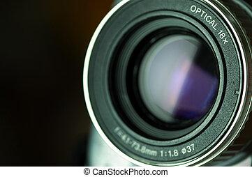 lens, camcorder