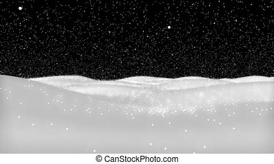 Lens Distortion Snow, falling snow isolated on black background in 4K to be used for composing, motion graphics