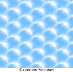 Lens Flare half ring pattern sky blue