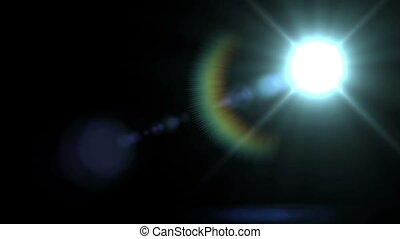 """Lens Flare Lights animation on a black"""