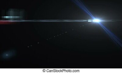 Lens Flare lights animation over black background