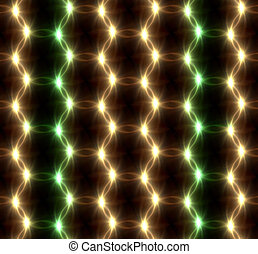 Lens Flare overlap green yellow ring pattern