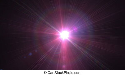 Lens Flare Rotation Motion Background glow bright light...