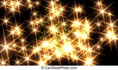 Lens flare sparkling glowing twinkle star lights glow background