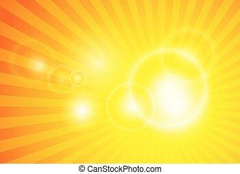 lens flare spiral background