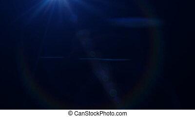 Lens Flares crossing Blue vertical