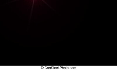 Lens Flares crossing red vertical