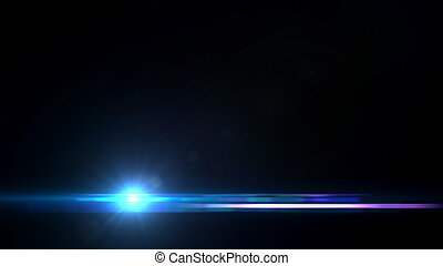 Lens Flares crossing Sea Blue bottom - beautiful lens flare ...