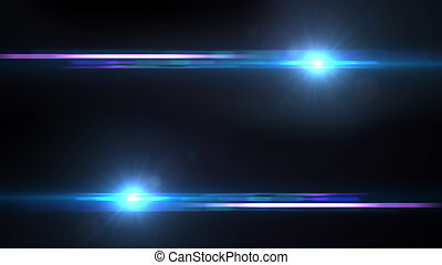 Lens Flares crossing Sea Blue bottom - beautiful lens flare...