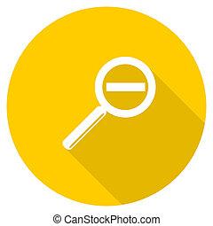 lens flat design yellow web icon