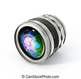 lens glass - photo lens isolated on a white background