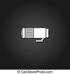 Lens icon flat