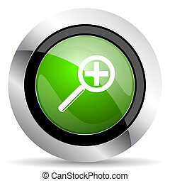 lens icon, green button