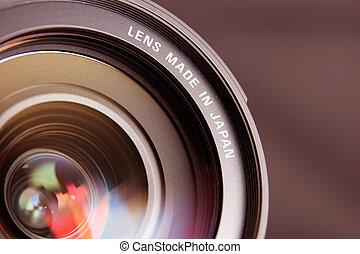 lens in closeup