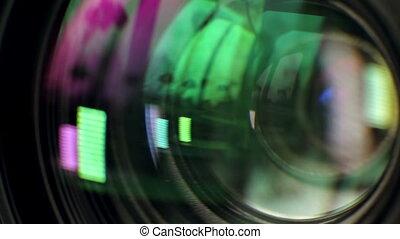 Lens of Camera - lens of the camera focuses