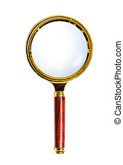 lens on the handle - small magnifying glass on a decorative...