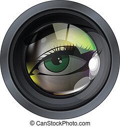 lens, professioneel, foto