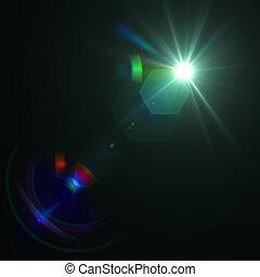 lens signalljus, vektor, verkan, eps8