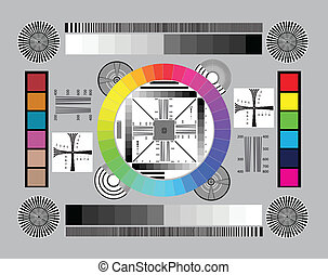 Test scale for setting up and testing the lens on the camera. Vector illustration.