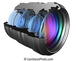 Lens - The optical scheme of a camera lens