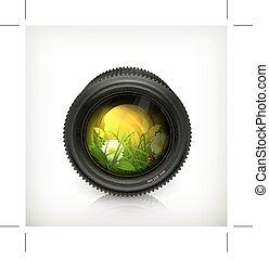 Lens, vector icon