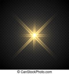 lense flare light effect