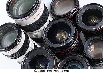Lenses - (Modern hi-end professional photographic equipment...