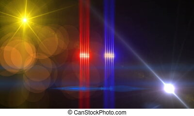 lensflare, 4k, étoiles