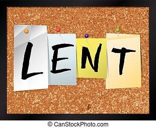 Lent Bulletin Board Theme Illustration