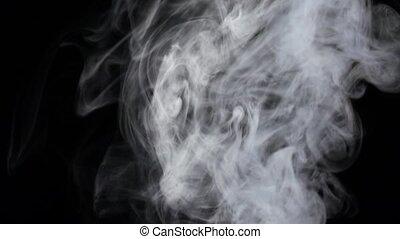 lent, fond, couler, mouvement, brouillard, ruisseaux, blanc, intense