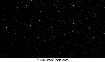 lent, mouvement, espace, rond, fond, microparticles, noir, hd