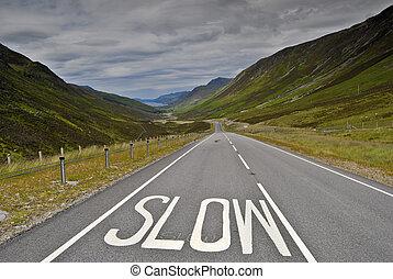 lent, panneaux signalisations