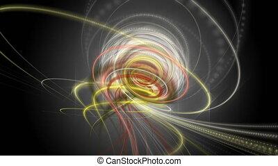 lent, particule, lumière, objet, futuriste, chatoiement, ...