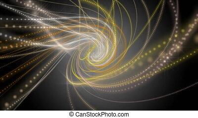 lent, particule, lumière, objet, futuriste, chatoiement, animation, vidéo, hd, mouvement, boucle, raie