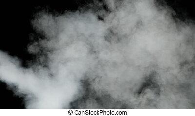 lent, sous, 240fps., vapor., pression, fond, eau, mouvement...