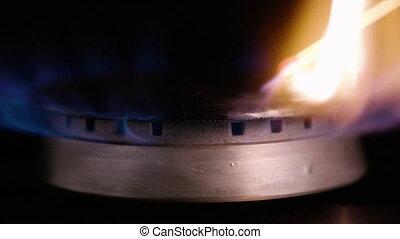 lent, stove., ignites, -, essence, mouvement, allumette, hd