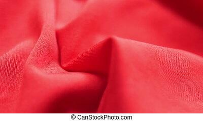 lent, tissu, mouvement, fond, satin, rouges