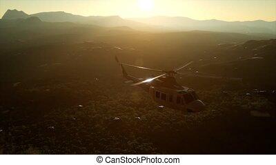 lent, vietnam, mouvement, hélicoptère, etats unis, militaire