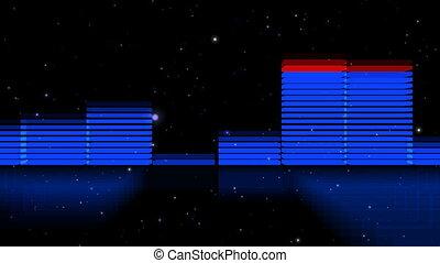 lent, zoom, analyseur, spectre, 3d, hd, dehors