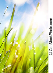 lente, abstract, achtergrond, natuur